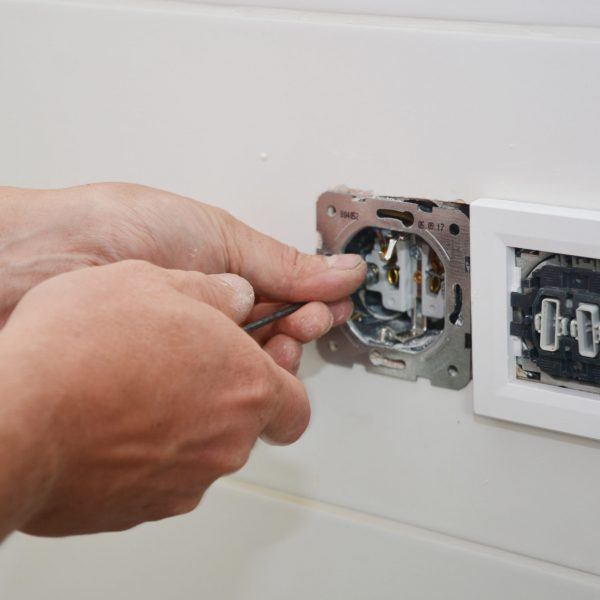 Electrican repair and install socket, outlet plug and switch